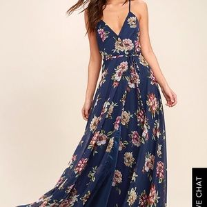 ALWAYS THERE FOR ME WRAP MAXI DRESS